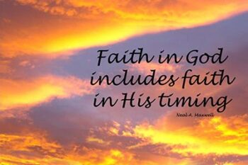 Faith – Obedience – Patience Pt. 3