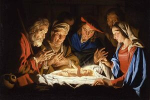The First Christmas Worship Service